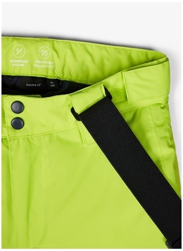 Name It Name İt 13177632 Su ve Rüzgar Geçirmez Erkek Çocuk Kayak Pantolonu Yeşil